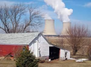 In this March 16, 2011 file photo, steam escapes from the Exelon Corp. nuclear plant near Byron, Illinois.