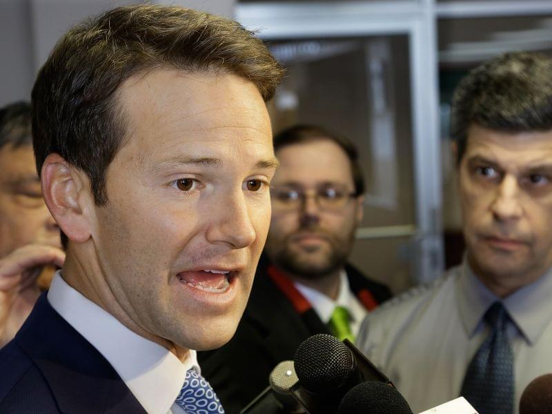 Congressman Aaron Schock in Peoria on February 6th.