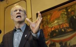In this Feb. 9 file photo, Governor Bruce Rauner speaks to reporters during a news conference in his office in Springfield