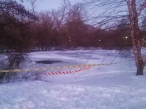 Caution tape marks off a portion of Crystal Lake in Urbana, where Christian Zamora's body was found Friday afternoon.