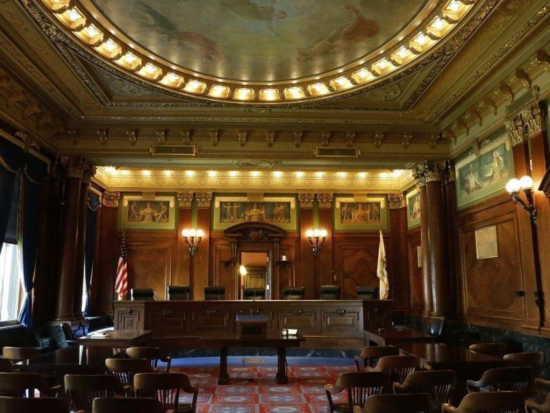 Illinois Supreme Court chamber during August 27, 2014 tour.