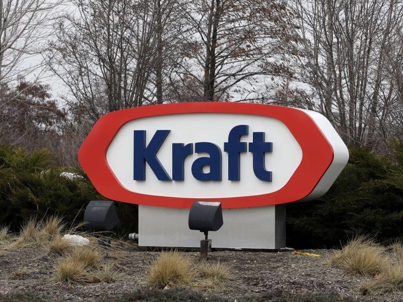 Kraft logo appears outside its headquarters in Northfield, Illinois Wednesday.
