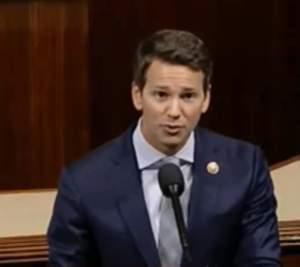Aaron Schock, delivering his farewell speech Thursday before Congress.