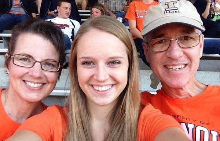 Betsi and Tod Waldron with their daughter, Emily. This photo was taken after Betsi completed her treatment for breast cancer in 2013.