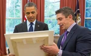 Poet Richard Blanco with President Obama