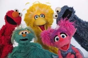 Elmo, Rosita, Big Bird, Abby Cadabby and Cookie Monster.