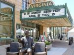 Outside the Virginia Theatre in Champaign, hours before the start of the 17th annual Ebertfest.