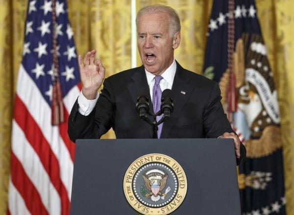 Vice President Joe Biden addresses sexual assault on college campuses, outlining the It's On Us campaign at the White House on September 19, 2014.