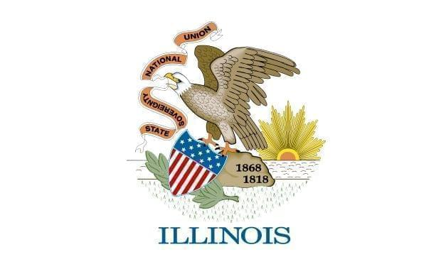 The Illinois state flag.