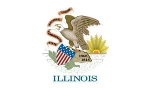 The Illinois state flag.