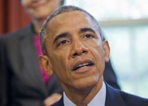 President Barack Obama speaks in the Oval Office of the White House in Washington Thursday.