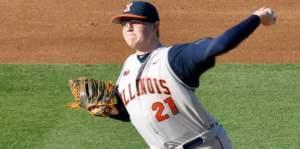 University of Illinois baseball pitcher Kevin Duchene.