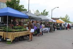 Vendors lined the parking lot selling produce, plants, sweets and more at the first Champaign Farmer's Market on Tuesday, May 5th.
