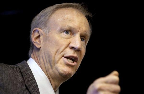 In this March 4,file photo, Gov. Bruce Rauner speaks at an event in Springfield.