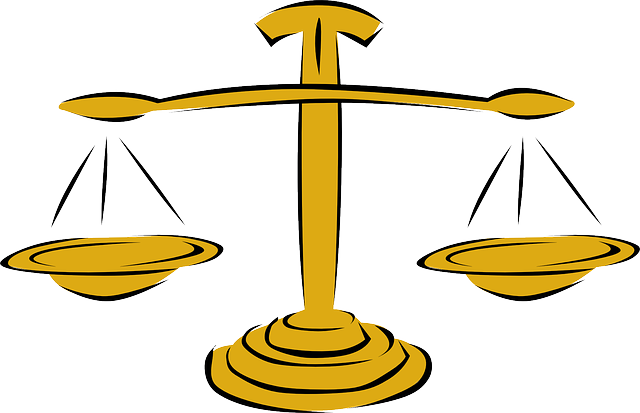 Graphic image of the scales of justice.