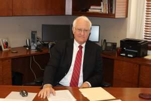 U of I President Robert Easter in his office on the Urbana campus.
