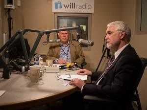 Incoming University of Illinois President Timothy Killeen talks with WILL's Jim Meadows on Thursday May 14, 2015.