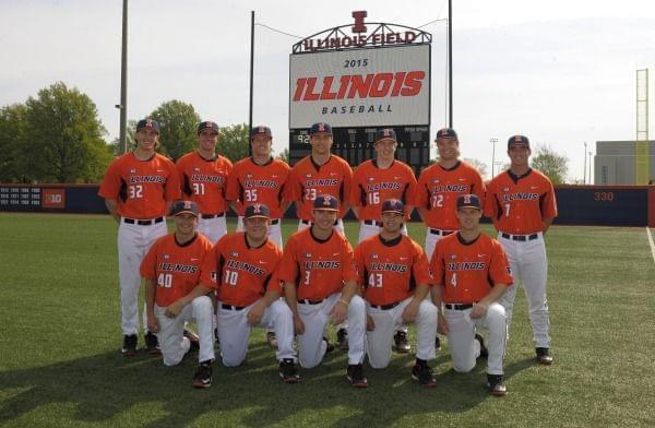 2015 Illini Baseball team at Illinois Field