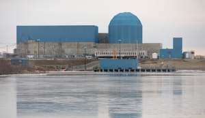 The Clinton nuclear power station.
