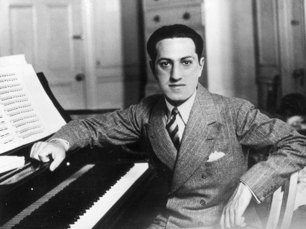 Composer George Gershwin at his piano