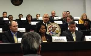 """Gov. Bruce Rauner meets with members of his cabinet Wednesday, telling them to prepare for a """"cash crisis"""" in government."""