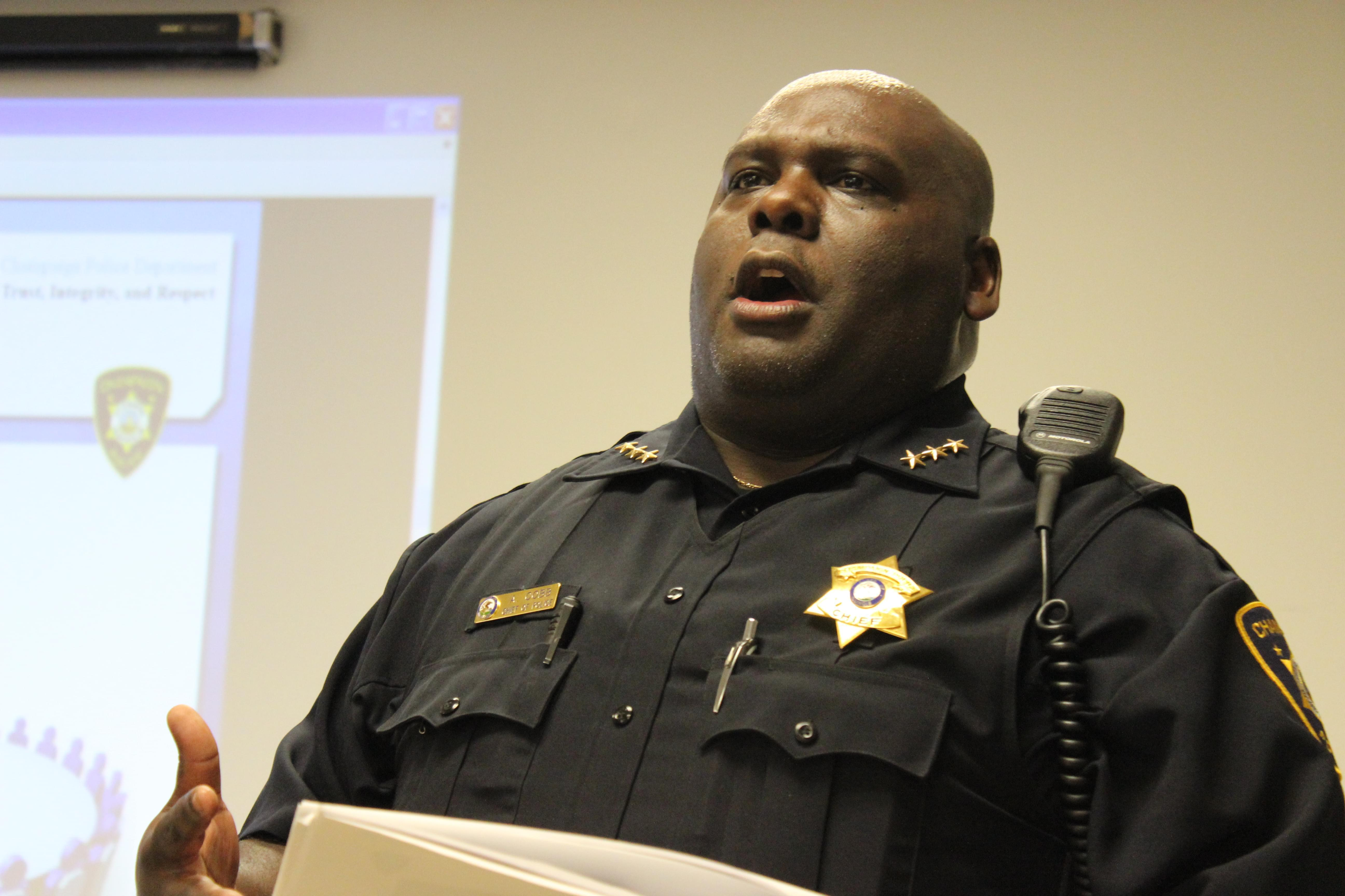 Champaign Police Chief Anthony Cobb