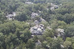 An image of Garden of the Gods in Shawnee National Park from the Smithsonian Channel's 'Aerial America.'