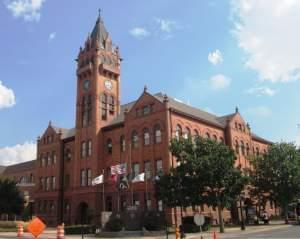 Champaign County courthouse in Urbana.