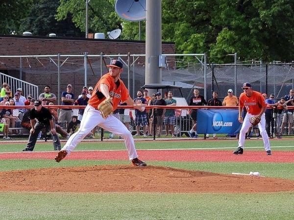 Illinois pitcher Tyler Jay pitching in a game against Vanderbilt
