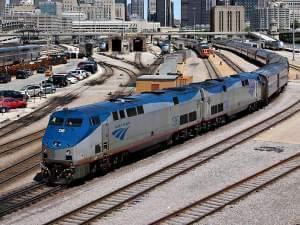 Amtrak Train in Chicago
