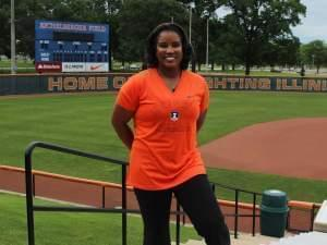 New UI women's softball coach Tyra Perry at Eichelberger Field