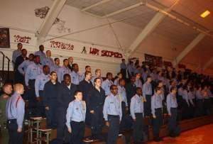 Cadets at the Lincoln's Challenge Academy in Rantoul.