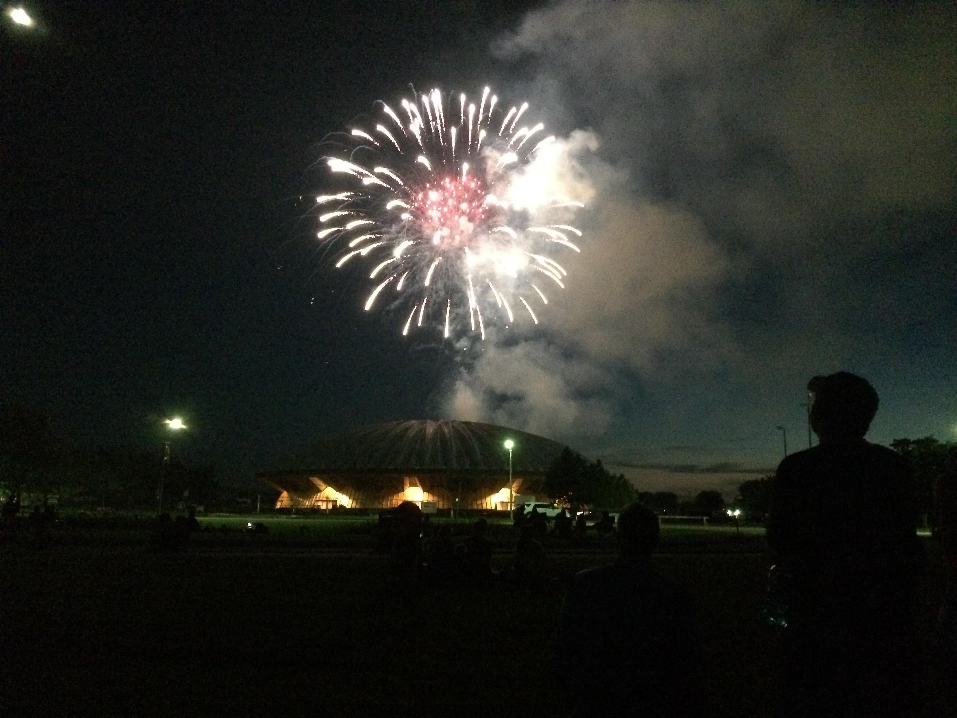 Fire works from July Fourth celebrations in 2014