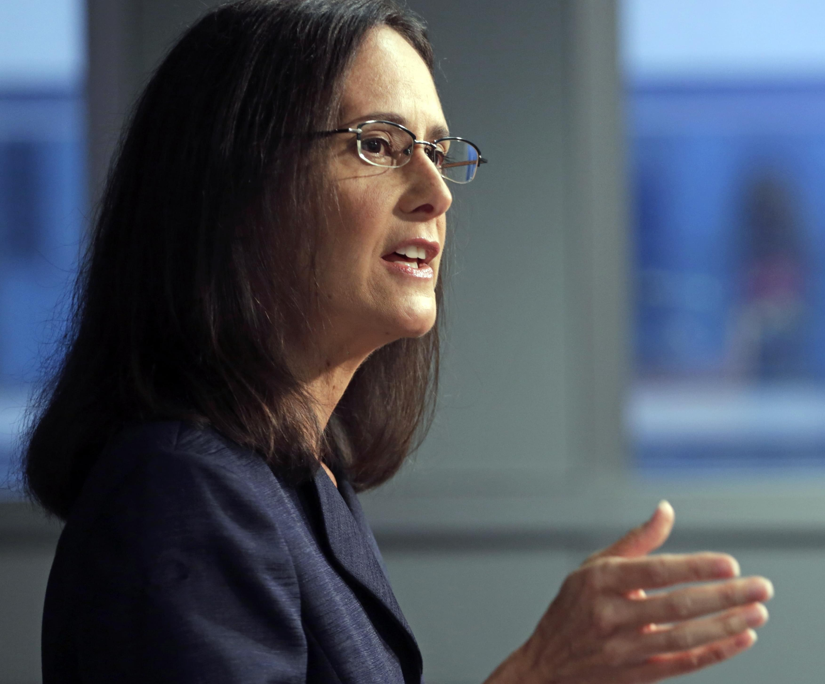 In this Aug. 21, 2014 file photo, Illinois Attorney General Lisa Madigan speaks at a news conference, in Chicago.
