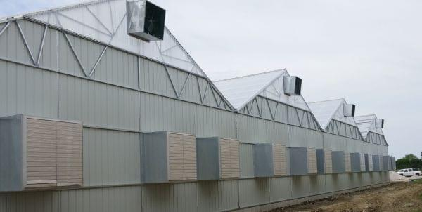 A medical marijuana cultivation site in Dwight, Illinois, operated by PharmaCann.