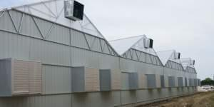Outside PharmaCann's medical marijuana cultivation site in Dwight, which could begin growing the product by mid-August.