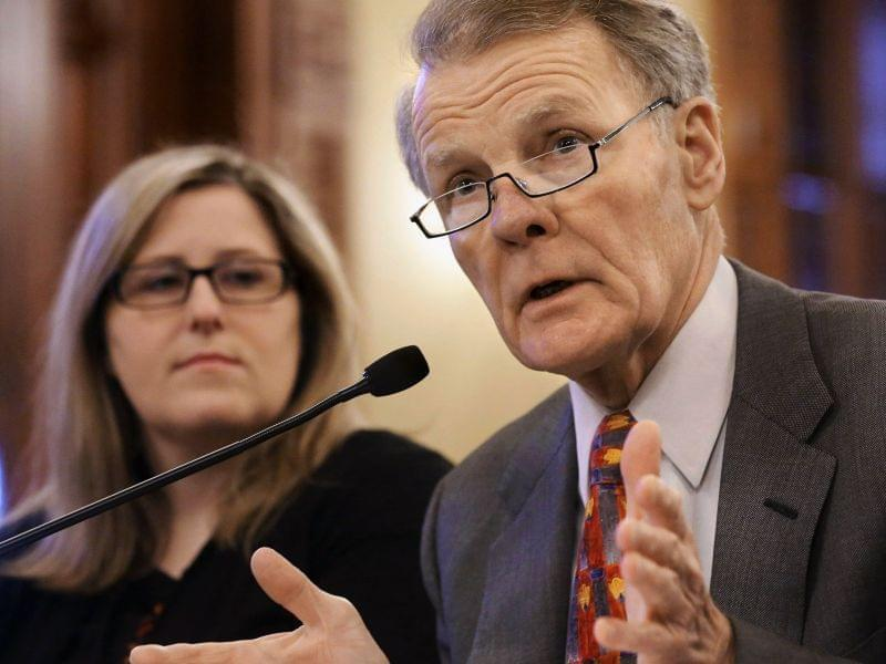 Illinois House Speaker Michael Madigan, D-Chicago, speaks at a House committee hearing at the Capitol in Springfield, Ill.