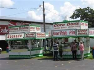 Food Stands at the Champaign County Fair