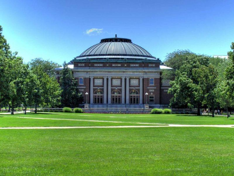 Foellinger Auditorium on the main quad of the U of I's Urbana campus.