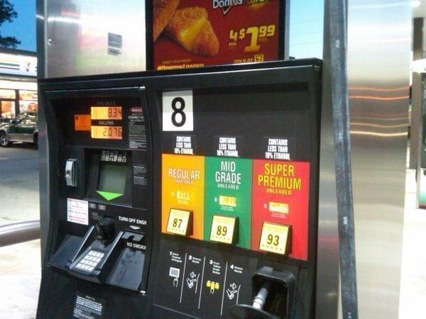 A gas pump in Jacksonville, Florida