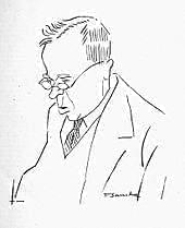 """Caricature of Holst as """"The Bringer of Jollity"""""""
