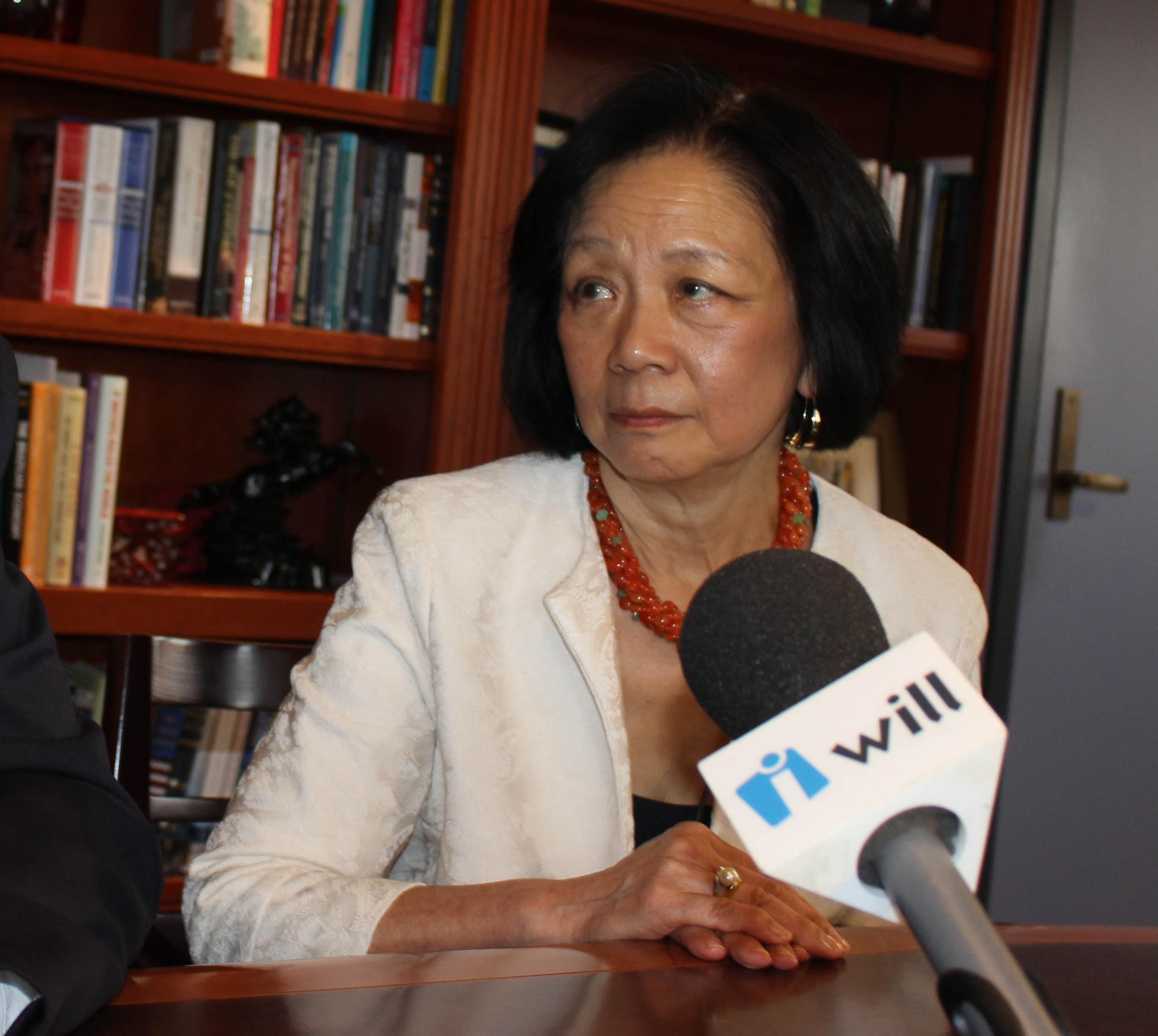 Former U of I Urbana Chancellor Phyllis Wise, in an interview on campus.