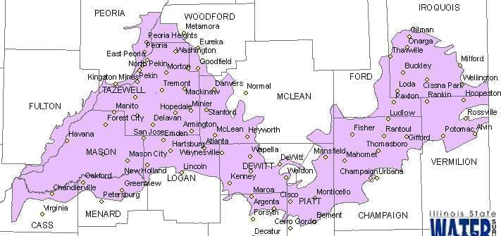 Map of the Mahomet Aquifer