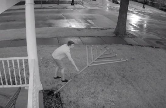 Suspect knocks over the 9-foot-tall menorah outside of Illini Chabad on Wednesday morning.