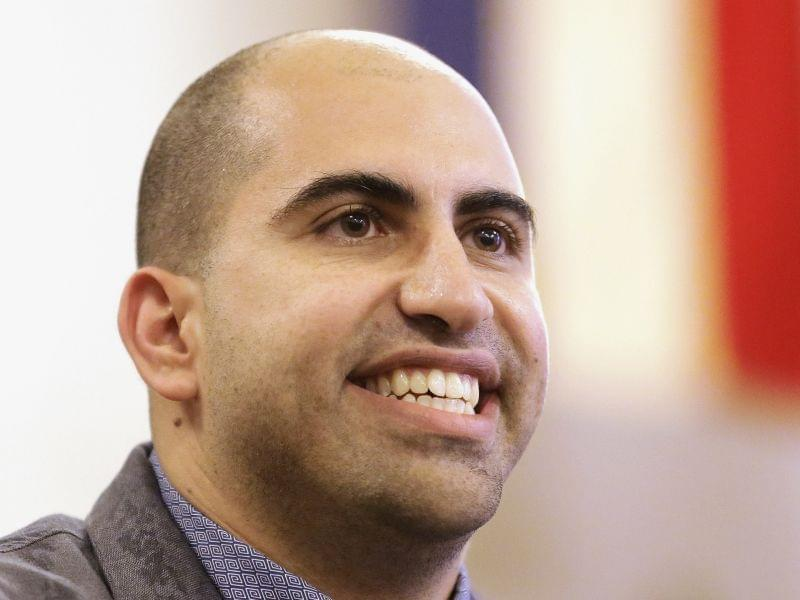 In this Sept. 9, 2014 file photo, Steven Salaita, speaks to students and reporters during a news conference at the University of Illinois YMCA.