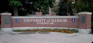 Campus marker for the University of Illinois.
