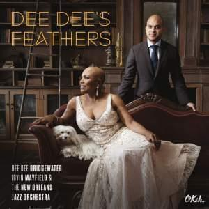 "Dee Dee Bridgewater and Irvin Mayfield on the cover of their new album ""Dee Dee's Feathers."""
