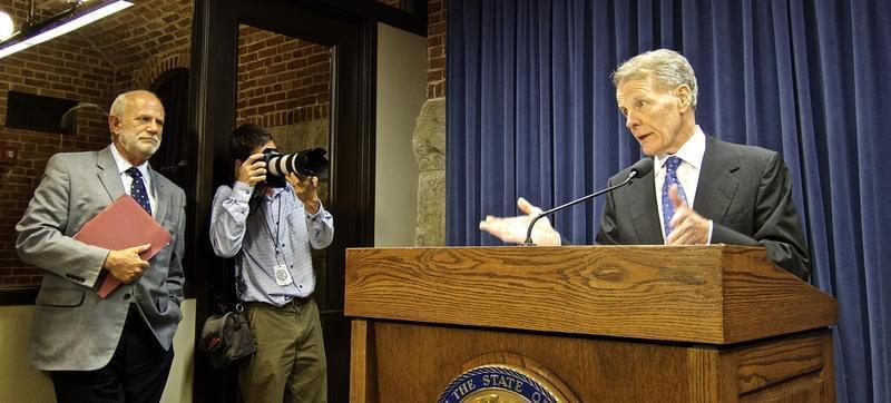 House Speaker Michael Madigan this week said he could not remember the last time Gov. Bruce Rauner met with all four legislative leaders.