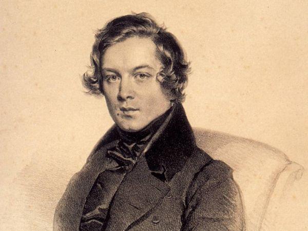 An illustration of composer Robert Schumann