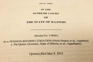 The title page of the lawsuit Doris Heaton v Pat Quinn and the State of Illinois.